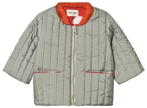 Bobo Choses Green and Red Crests Reversible Padded Jacket
