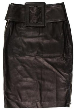 Band Of Outsiders Leather Knee-Length Skirt