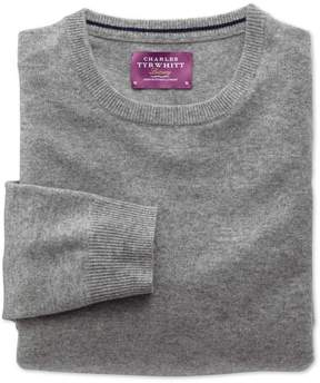 Charles Tyrwhitt Silver Cashmere Crew Neck Sweater Size XS