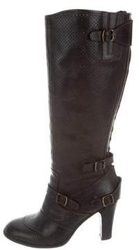 Belstaff Perforated Knee-High Boots