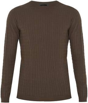 Giorgio Armani Crew-neck wool-blend sweater