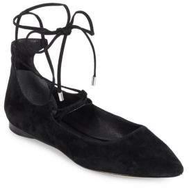 Sigerson Morrison Lace-Up Ballet Flats