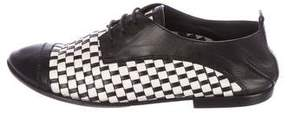 CNC Costume National Woven Leather Oxfords