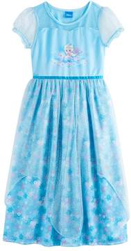 Disney Disney's Frozen Elsa Girls 4-10 Fantasy Nightgown