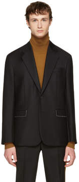 Maison Margiela Black Stitch Detail Blazer