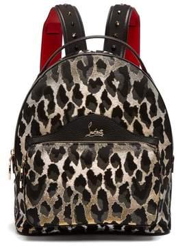 Christian Louboutin Backloubi Small Leopard Brocade Backpack - Womens - Leopard