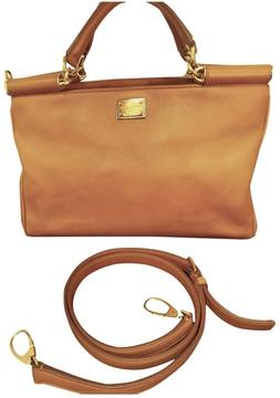 Dolce & Gabbana Sicily leather handbag - BROWN - STYLE