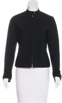 Barbara Bui Wool Leather-trimmed Jacket