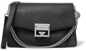Givenchy Gv3 Small Textured-leather Shoulder Bag - Black