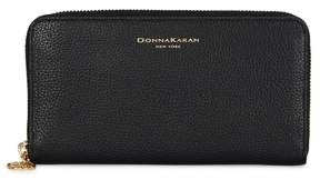 Donna Karan Black Pebbled Leather Wallet