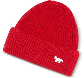 MAISON KITSUNÉ Red Wool Knitted Hat