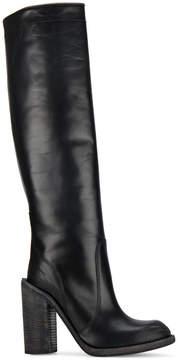 Haider Ackermann Black chunky heel 120 knee high boots