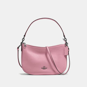 COACH Coach Chelsea Crossbody In Polished Pebble Leather - DARK GUNMETAL/DUSTY ROSE - STYLE