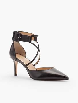 Talbots Erica Crisscross-Strap D'Orsay Pump - Napa Leather