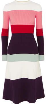 DAY Birger et Mikkelsen JoosTricot - Color-block Ribbed Cotton-blend Midi Dress - Pink