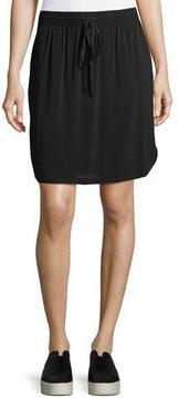 Allen Allen Drawstring-Waist Jersey Skirt