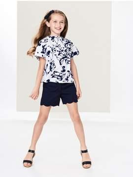 Oscar de la Renta Kids Kids | Scalloped Cotton Shorts | 5 years