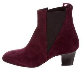 Rupert Sanderson Suede Round-Toe Ankle Boots