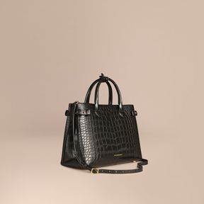 Burberry The Medium Banner in Alligator