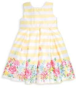 Little Me Little Girl's Garden Striped Dress