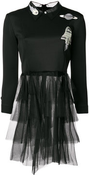Frankie Morello space motif tulle dress