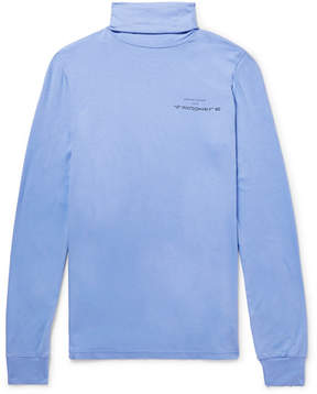 Raf Simons Slim-Fit Printed Stretch-Jersey Rollneck T-Shirt