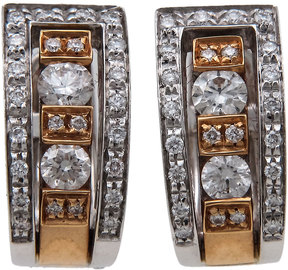 Damiani Belle Epoque Two-Tone Diamond Channel Earrings