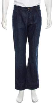 Bottega Veneta Cropped Five Pocket Bootcut Jeans