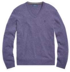 Ralph Lauren Merino Wool V-Neck Sweater Antique Purple Heather Xs