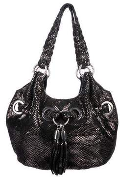 MICHAEL Michael Kors Embossed Leather Drawstring Hobo