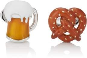 Jan Leslie Men's Pretzel & Beer Cufflinks