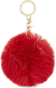 MICHAEL Michael Kors Fluffy faux-fur pompom charm - BLACK - STYLE