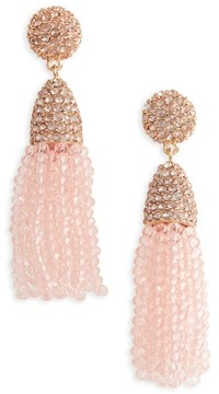 BaubleBar Women's Annabelle Mini Tassel Drop Earrings