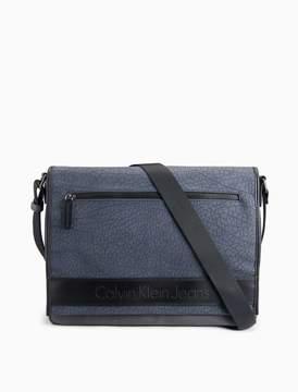 Calvin Klein pebble logo messenger bag