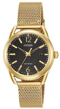 Citizen FE6082-59E Gold Stainless Steel LTR Women's Eco-Drive Watch