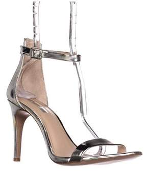 INC International Concepts I35 Roriee Ankle Strap Dress Sandals, Pale Silver.