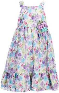 Laura Ashley London Little Girls 2T-6X Floral-Print Ruffle Hem Dress