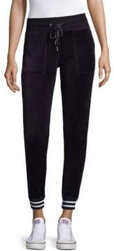 Betsey Johnson Striped Rib Jogging Pants