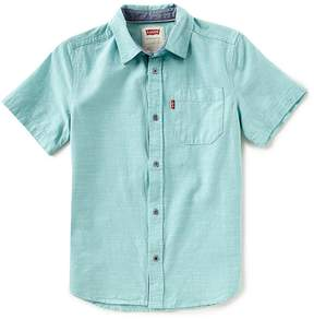 Levi's Big Boys 8-20 Smith Solid Woven Button-Down Shirt