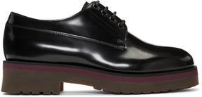 Lanvin Black Leather Derbys