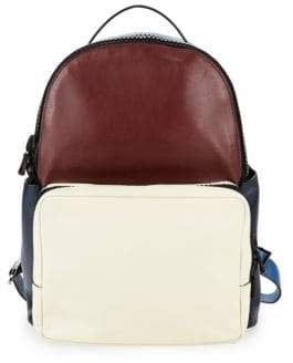Valentino Colorblock Leather Backpack