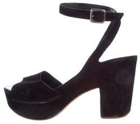 Roberto Del Carlo Suede Platform Sandals
