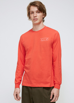Martine Rose Red Classic Long Sleeve T-shirt