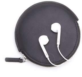 Royce Leather Royce Black Leather Circular Earbud Travel Case