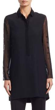 Akris Punto Cutout Dot Tunic Blouse