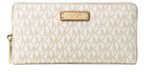 MICHAEL Michael Kors Zip-Around Wallet - VANILLA - STYLE