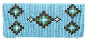 Tory Burch Multicolor Beaded Clutch - BLUE - STYLE