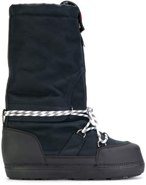 Hunter chunky lace-up detail boots