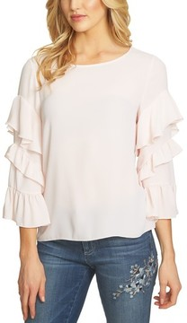 CeCe Women's Tiered Ruffle Sleeve Blouse