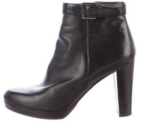 Barbara Bui Leather Buckle-Accented Ankle Boots